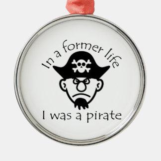 Pirat i tidigare liv julgransprydnad metall
