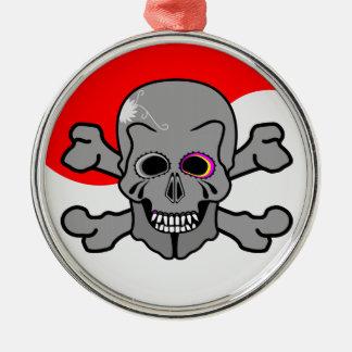 Pirat Jolly Roger Julgransprydnad Metall