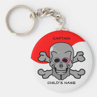 Pirat Jolly Roger Rund Nyckelring