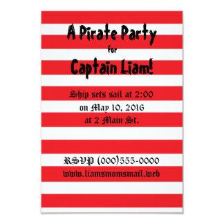 """Pirat"" partyinbjudningar 8,9 X 12,7 Cm Inbjudningskort"