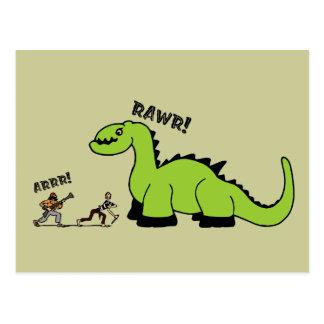 Pirat vs. Dinosaur Vykort