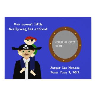 Piratbabymeddelande 12,7 X 17,8 Cm Inbjudningskort