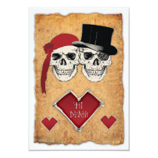 piratbröllop 8,9 x 12,7 cm inbjudningskort