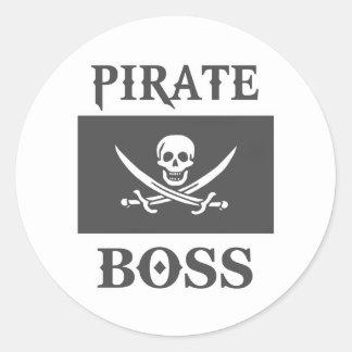 Piratchef Runt Klistermärke