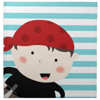 Piratdesign med randig bakgrund näsduk