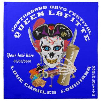 Piratdrottningen viktiga Lafitte beskådar om Näsdukar