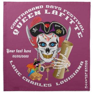 Piratdrottningen viktiga Lafitte beskådar om Servett