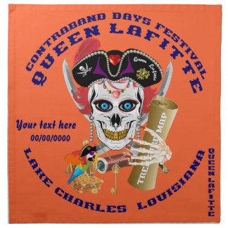Piratdrottningen viktiga Lafitte beskådar om Servett Med Tryck