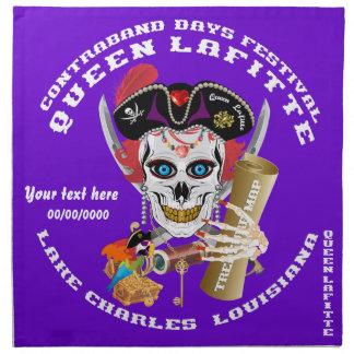 Piratdrottningen viktiga Lafitte beskådar om Servetter