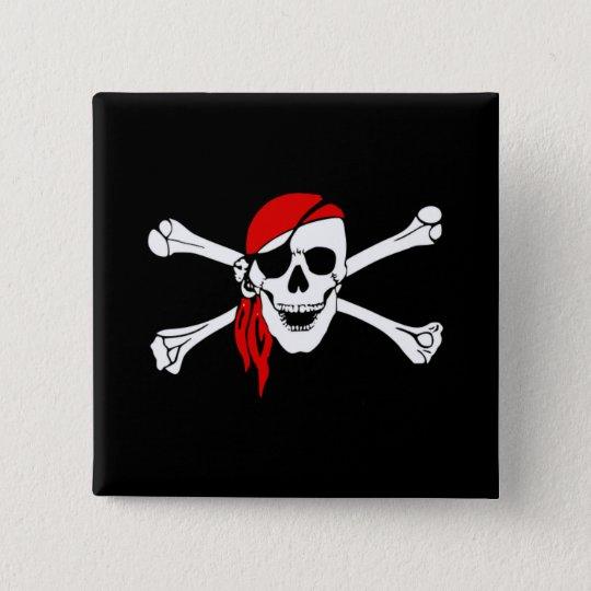 Pirate fine quality button standard kanpp fyrkantig 5.1 cm