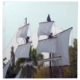 piraten seglar på abstrakt piratkopiera muskateer servetter med tryck