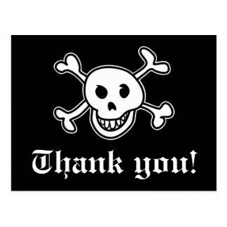 Piraten tackar dig att card för födelsedagparty vykort