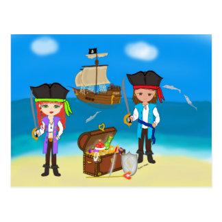 Pirater av baklandvykortet vykort