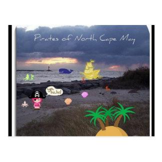 Pirater av norr Cape May Vykort
