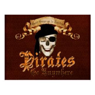 Pirater går någonstans vykort