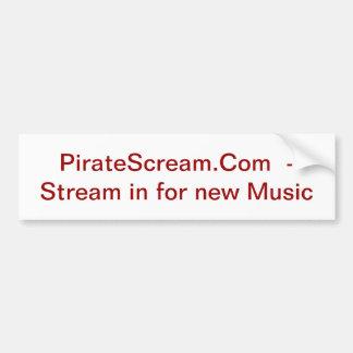 PirateScream klistermärke Bildekal