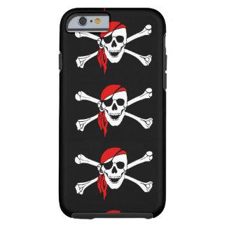 Piratflagga benar ur fodral för skallefarasymbolet tough iPhone 6 skal