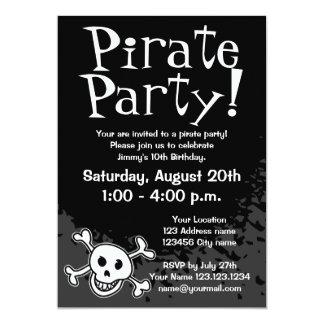 Piratfödelsedagsfest inbjudanför barn 12,7 x 17,8 cm inbjudningskort