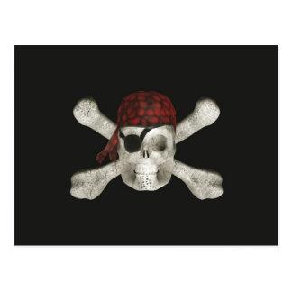 Piratskalle - Halloween vykort
