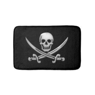 Piratskalle- och svärdCrossbones (TLAPD) Badrumsmatta