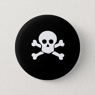 Piratskallen och arga ben knäppas standard knapp rund 5.7 cm