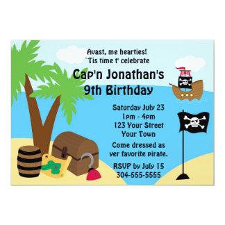 Piratskattfödelsedagsfest 12,7 X 17,8 Cm Inbjudningskort