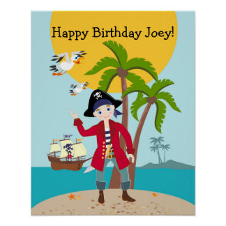 Piratungefödelsedagsfest Poster