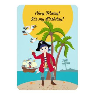 Piratungefödelsedagsfest 12,7 X 17,8 Cm Inbjudningskort