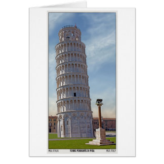 Pisa - det lutande torn hälsningskort