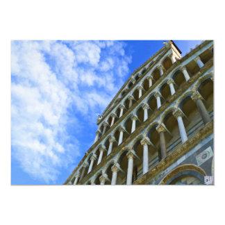 Pisa domkyrka med kärlekcitationstecken 12,7 x 17,8 cm inbjudningskort