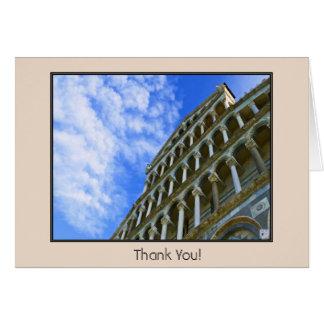 Pisa domkyrka med kärlekcitationstecken hälsningskort