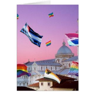 Pisa italienpride hälsningskort