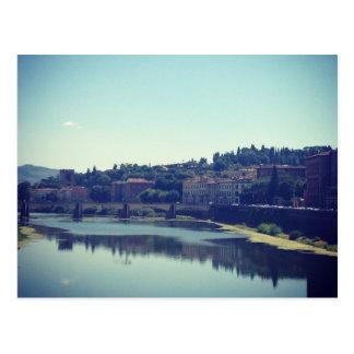 Pisa och floden vykort