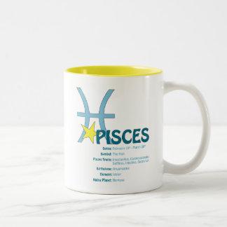 Pisces dragmugg Två-Tonad mugg