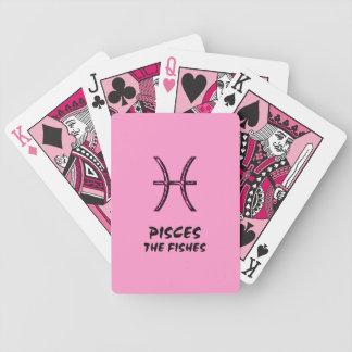 Pisces fiskarna som leker kort spelkort