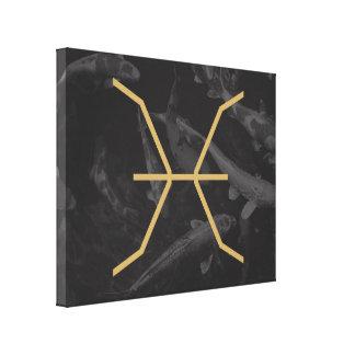 Pisces Zodiac undertecknar | anpassadebakgrund Canvastryck