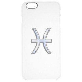 Pisces Zodiac undertecknar på marinblåa Digital Clear iPhone 6 Plus Skal