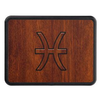 Pisces Zodiac undertecknar wood kornstil för rik Dragkroksskydd