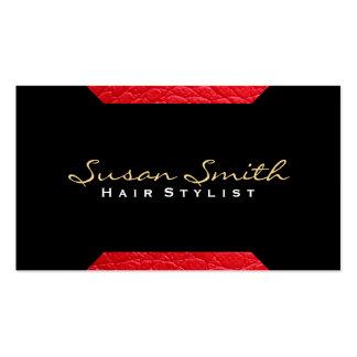 Piska chic för brytning som (röd) | är luxe set av standard visitkort
