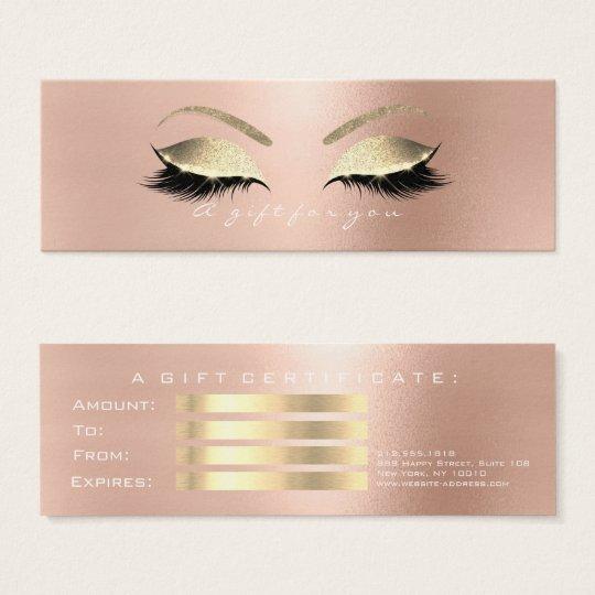 Piskar rosa vit PinkGold för presentkortet Makeup Litet Visitkort