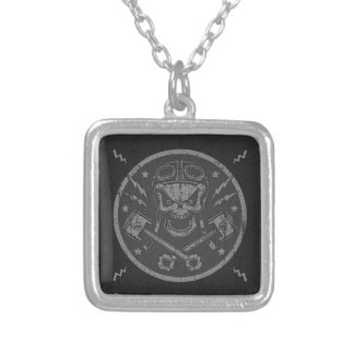 Pistong Pistoff II - silver/guld Silverpläterat Halsband
