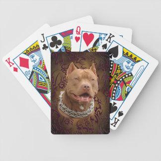 Pitbull brun stam- tatuering spelkort