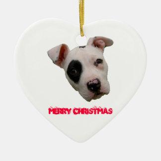 Pitbull god jul julgransprydnad keramik