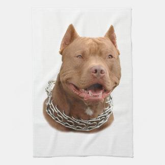 Pitbull hund kökshandduk