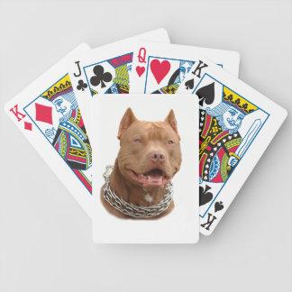 Pitbull hund spelkort