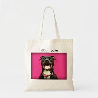 Pitbull kärlek budget tygkasse