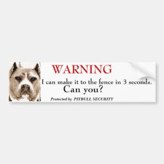 Pitbull säkerhet bildekal