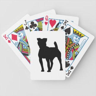 Pitbull Silhouette Spelkort