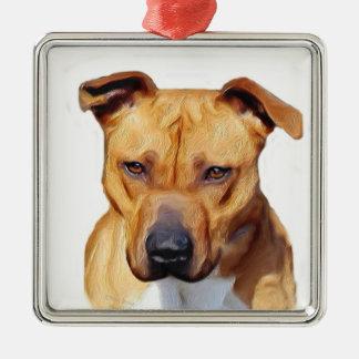Pitbull Terrier Julgransprydnad Metall