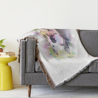 Pitbull vattenfärg dekorativ filt